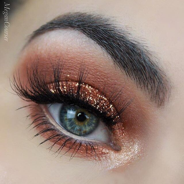 Makeup Geek Eyeshadows in Beaches and Cream, Latte and Cocoa Bear + Makeup Geek Foiled Eyeshadow in Flame Thrower. Look by: megancourser