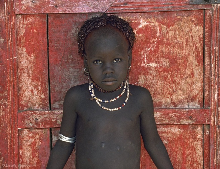 """Red : Ethiopia / Lisa Kristine Photography - the little scar is where they drained this child's """"humors"""" during illness.  I've had this photo since 1994."""