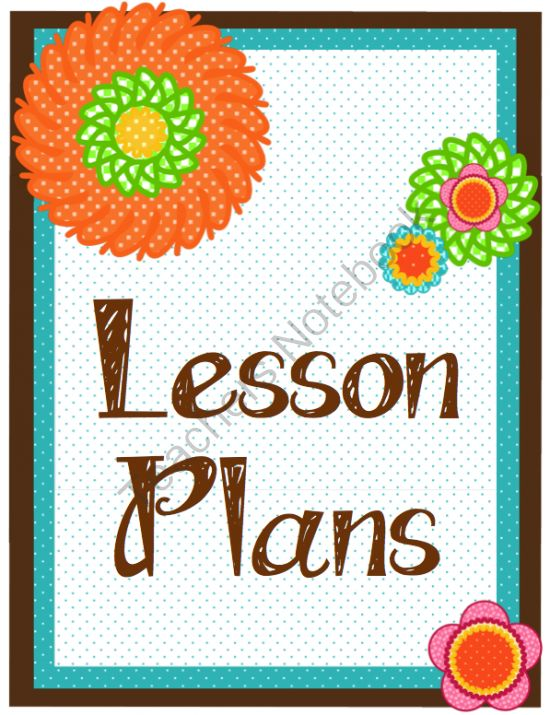 ... plan with this Flower Power lesson plan book. INCLUDES: Planbook Cover
