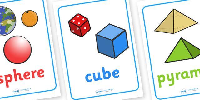 3d shapes environment shape flashcards shape teaching ideas math