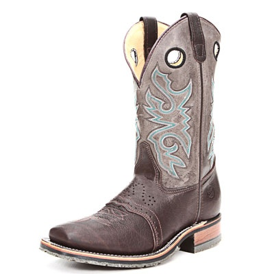 Double H Chocolate Bullhide Black Ice Roper Work Boots|All Mens Cowboy Boots
