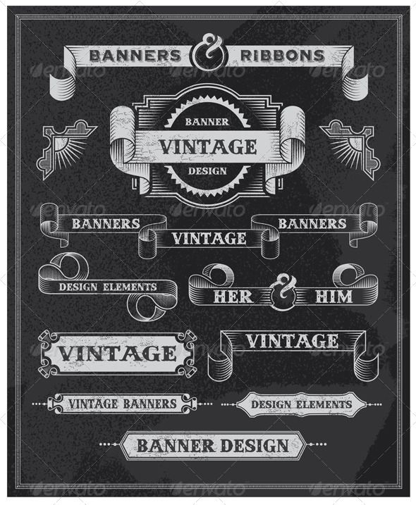 Vintage Typography on ribbon - Yahoo Image Search Results