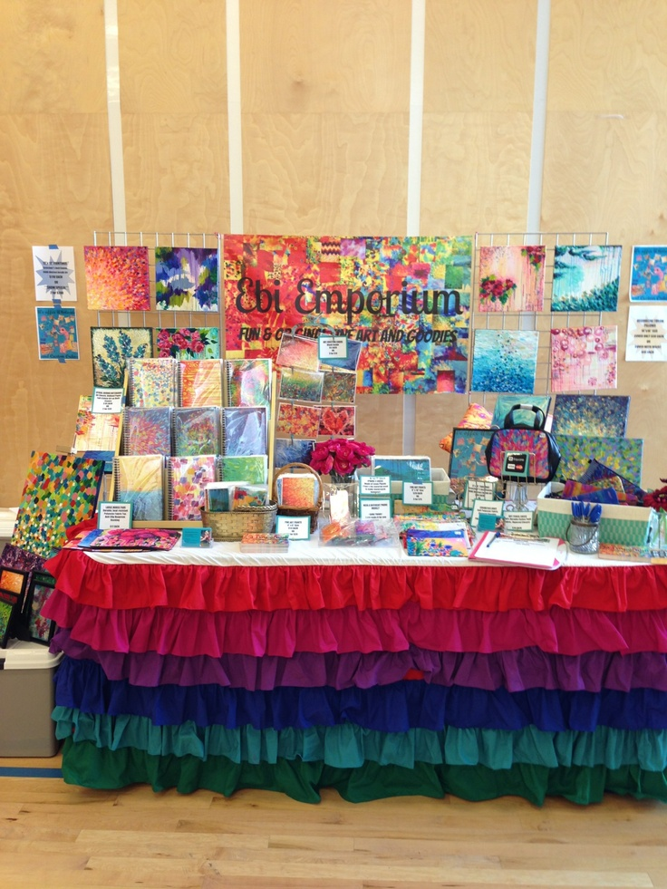Ebi Emporium at #PortobelloWest Spring Craft Show 2013, #Vancouver BC Canada #shop local #livelocal #artsandcrafts #craftdisplay #craftshow #craftbooth #boothdisplay #Canadian #fineart #abstractpainting #VancouverArtist #colorful #rainbowcolors #craftshowideas #funideas #JuliaDiSano #artshow #artdisplay #whimsical #colorfulbooth