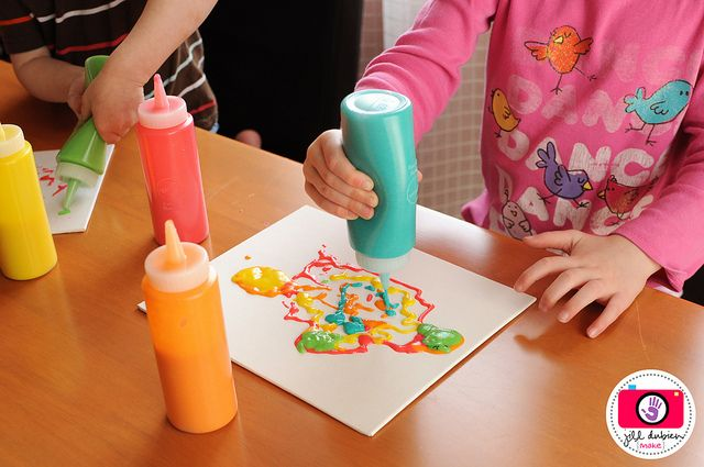 Homemade puffy paint! fun craft for kids.
