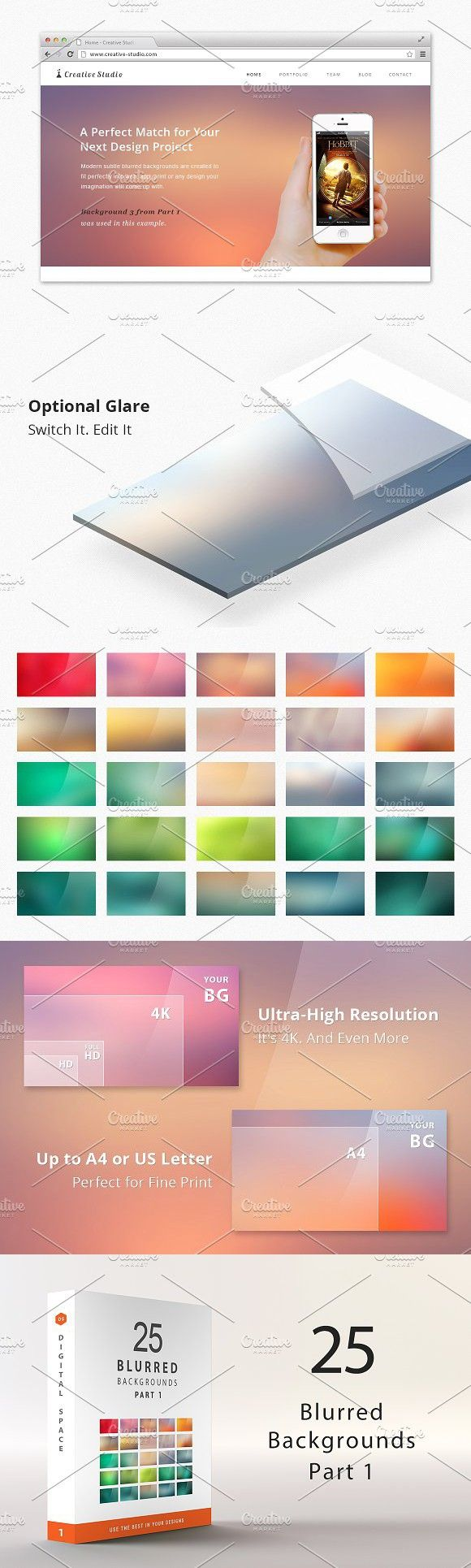 25 Blurred Backgrounds - Part 1 #blurredbackgrounds #background