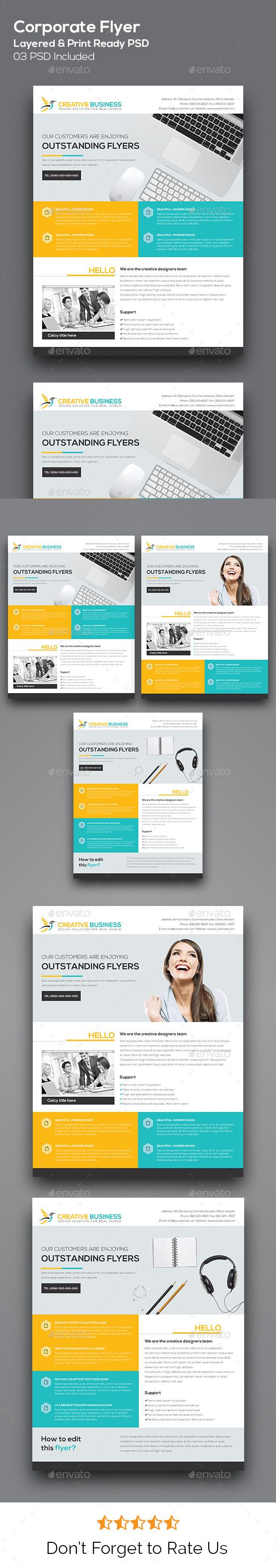 Corporate Flyer / Corporate Business Flyer Template for Promoting business services based campaign. Everything is layered, grouped and well organised. Easy to edit the text, color & image. Simply edit the text & place the logo.