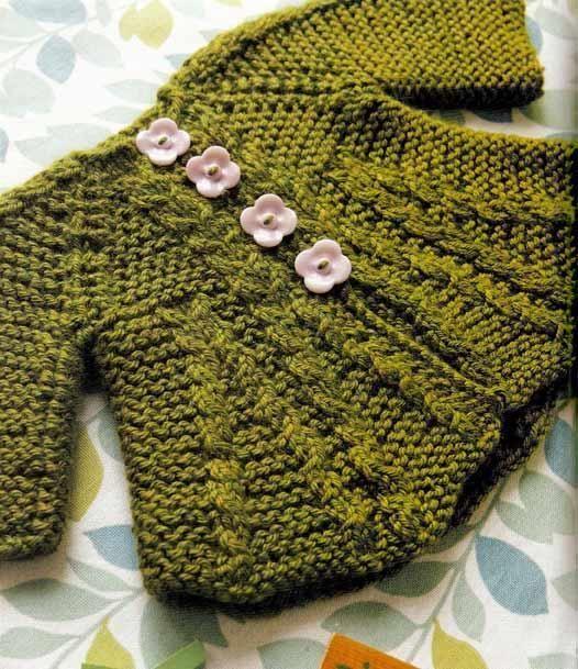 Baby's Aran Coat - via @Craftsy