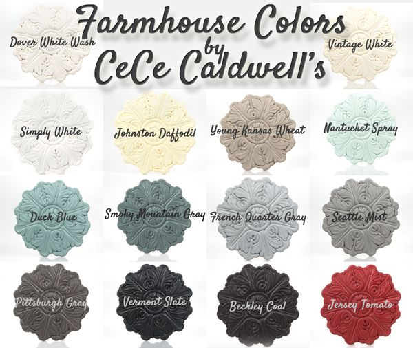 see cece caldwell's farmhouse palette for painted furniture projects.  order your products to make over your home at vintagebettte.com.