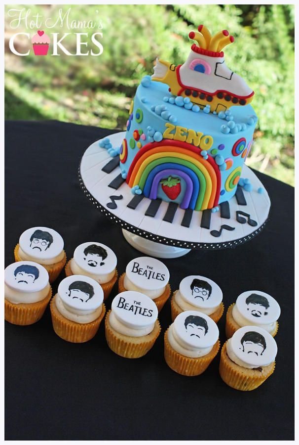 Beatles Themed Baby Shower! - Cake by Hot Mama's Cakes