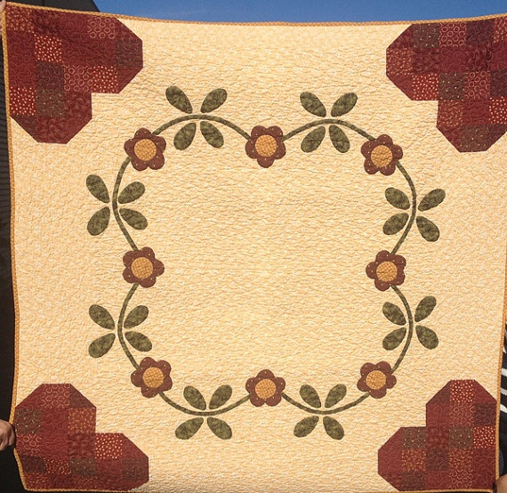 Traditional Hand Quilting Patterns : 199 best images about Quilts - Applique (Traditional) on Pinterest Appliques, Antiques and ...