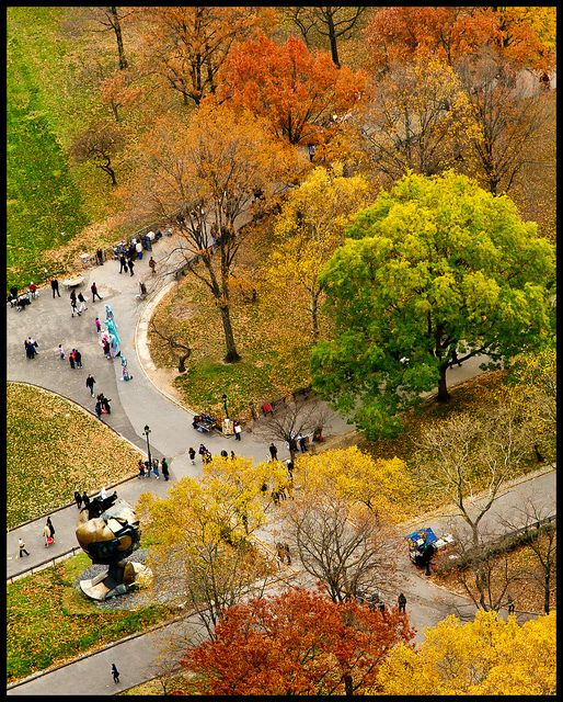 """Battery Park in Fall.  """"The Sphere"""" from the Old WTC is in the lower left hand side. / Flickr.  Ryan Buhdu"""