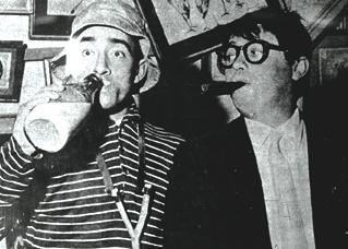Alberto Olmedo and Tato Bores. Buenos Aires