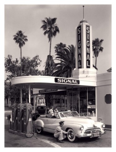 American Gas Station, 1950 Art from AllPosters.com