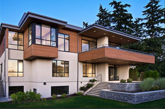 17 best images about modern stucco houses on pinterest for Home exterior material options