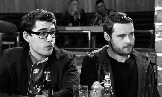 Finn Barton (Joe Gill) & Aaron Livesy (Danny Miller) (May 2015)