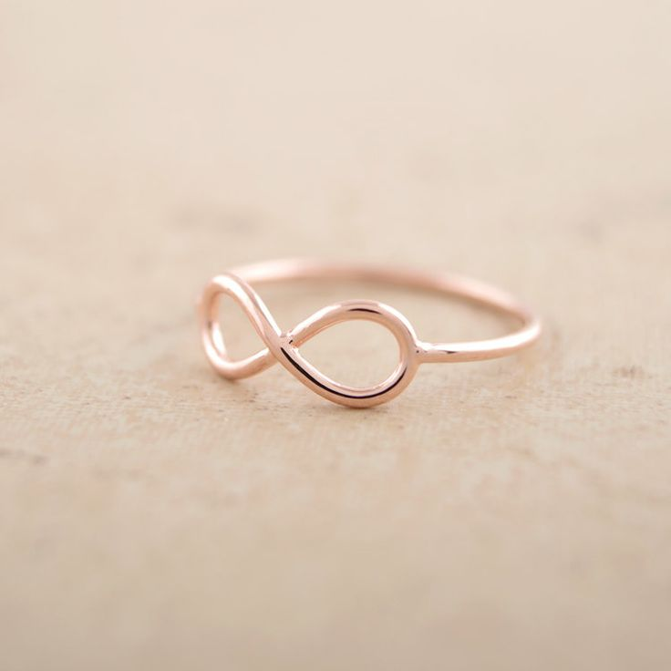 8 Infinity Ring in Pink Gold by bkandjio on Etsy