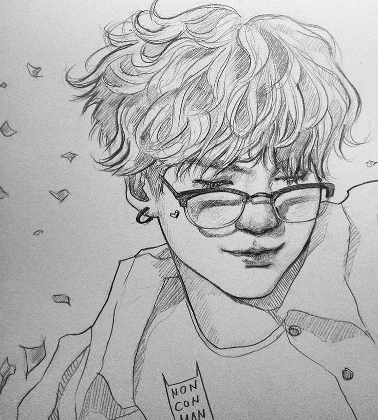 Min Yoongi ♡ Bts Bts Pinterest Bts Drawings
