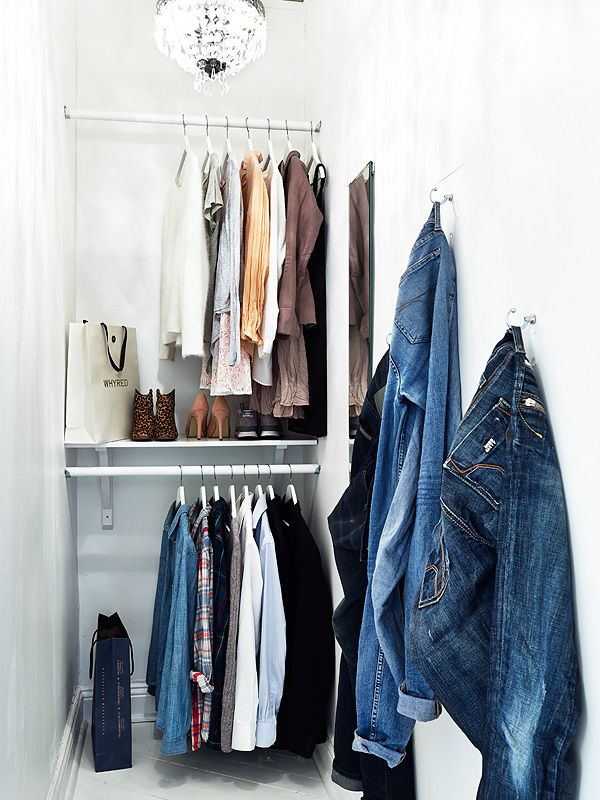 746 Best Ideas About Single And Double Closets On Pinterest | Closet  Organization, Clothes Racks