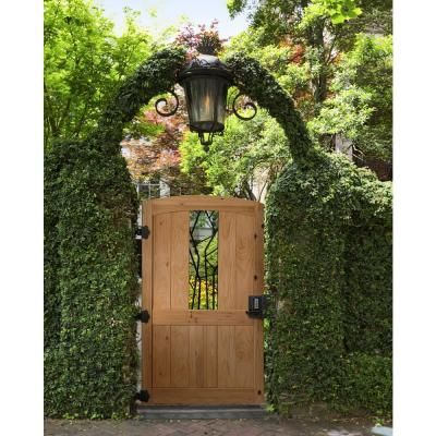 3 5 Ft X 6 Ft Cedar Fence Gate With Decorative Iron