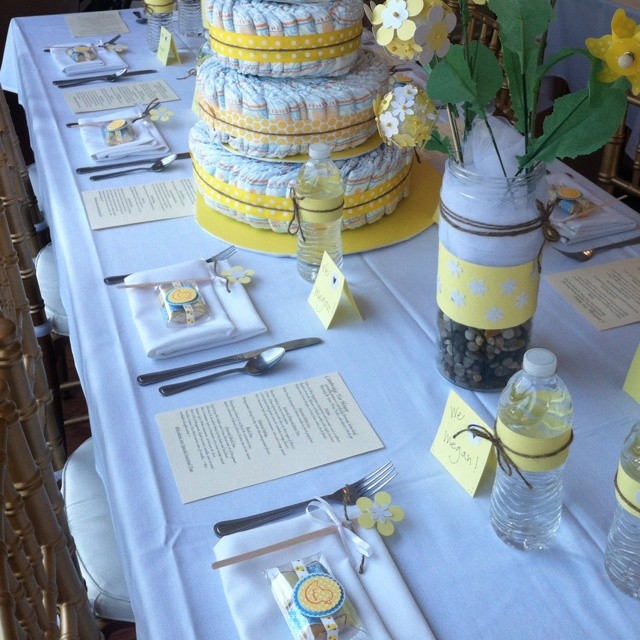 baby shower place settings baby shower decor pinterest babies