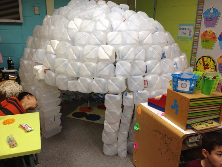Best 20 milk jug igloo ideas on pinterest for How to build an igloo out of milk jugs