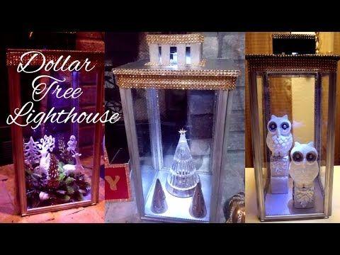 DIY Lantern Lighthouse  Dollar Tree DIY Home Decor  Glam Home Decor - YouTube