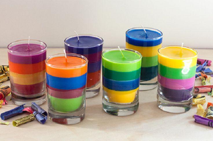 Fabriquer de belles bougies avec des restants de craies de cire!