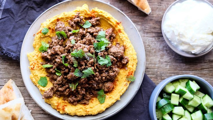 Middle Eastern Lamb and Hommus