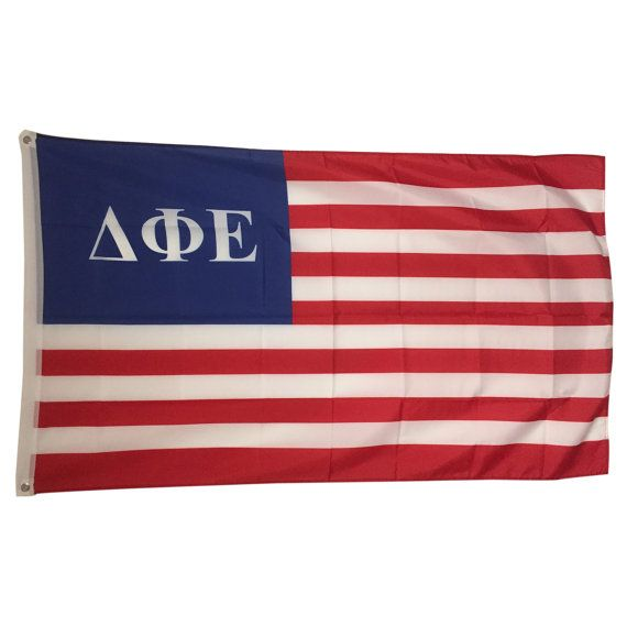 Delta Phi Epsilon Old Glory Flag 3' x 5'  NEW by GreekLifeStuff
