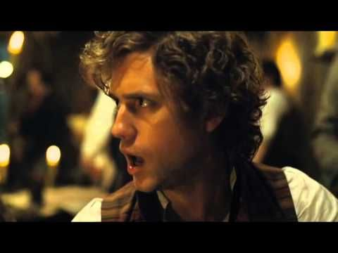 "Les Miserables 2012 ""Red and Black"" Eddie Redmayne (Marius) and Aaron Tveit (Enjolras)"