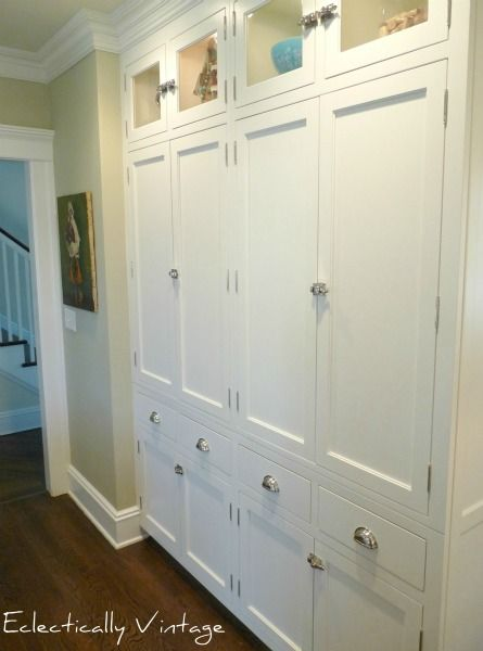 pantry wall === @Danielle Lampert Steffen & @Patricia K. Steffen... this is screaming to be in your house!  =)