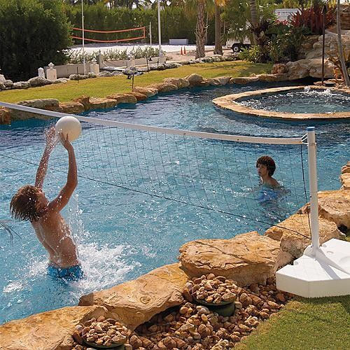 128 best images about pools on pinterest traditional for Pool design for volleyball