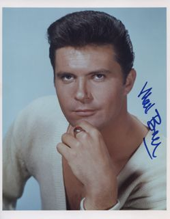 Max Baer Jr. - Photograph Signed Item 325244. Photograph of the actor posed in a white v-neck sweater, signed in blue felt tip. Shop for Max Baer Jr. related autographs, signed photographs
