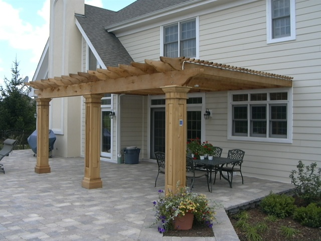 Cedar Pergola Attached To House Pergola Pinterest