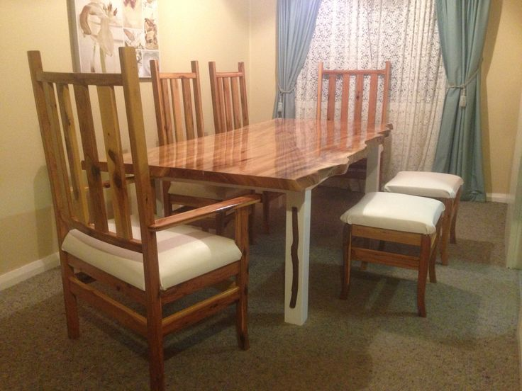my husband made the table and chairs