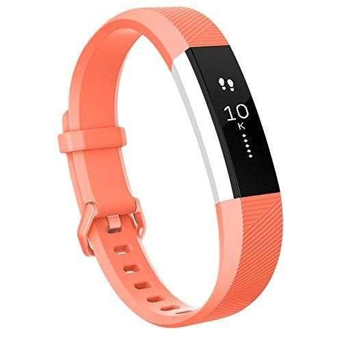 Fitbit Alta HR Bands Vancle Classic Accessory Alta Band Replacement Wristband for Fitbit Alta HR 2017 and Fitbit Alta 2016 (v2-Coral Small)