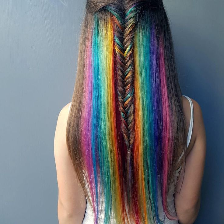 Hidden Rainbow cascade Rp by @jaymz.marsters #hair #hairstyle #hairstylist…