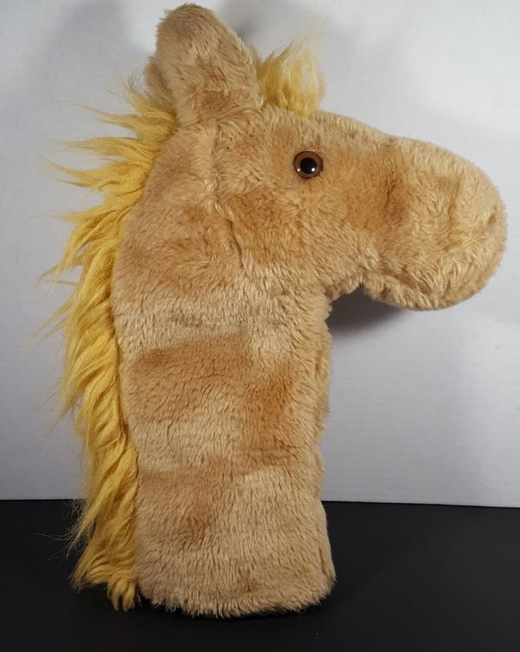 HTF Daphne Plush Horse Head Cover Golf Light Brown #Daphne