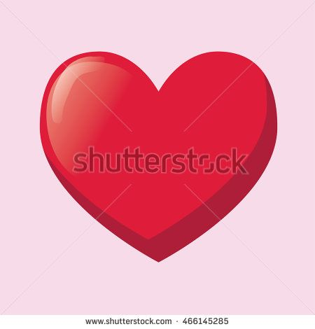 Red heart ring icon vector simple style. Vector Illustration. Heart icon. Love…