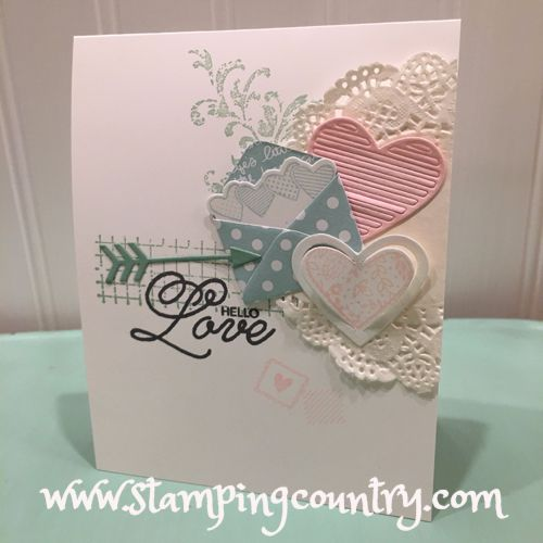 Love Notes Sealed With Love, Valentine, Stampin' Up! Cards, Hearts, Mini Envelopes