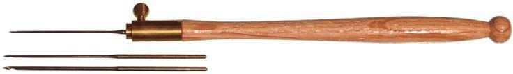 tambour needle set w/wood handle-three needles