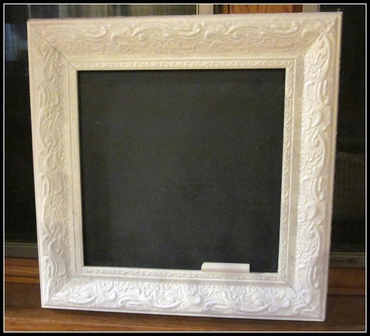 diy chalkboard frame...love it!