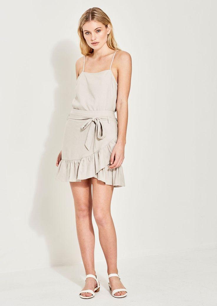 Imonni - Maya Linen Wrap Skirt