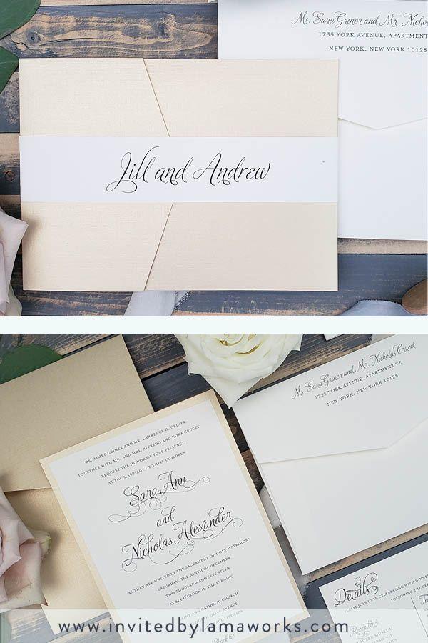 Classic Gold Pocket Wedding Invitation Black And Gold Etsy Pocket Wedding Invitations Black Wedding Invitations Champagne Gold Wedding