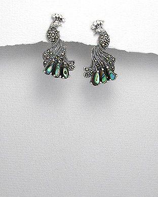 silver vogue - Enchanting Sterling silver Peacock earring , $28.00 (http://www.silvervogue.com.au/enchanting-sterling-silver-peacock-earring/)