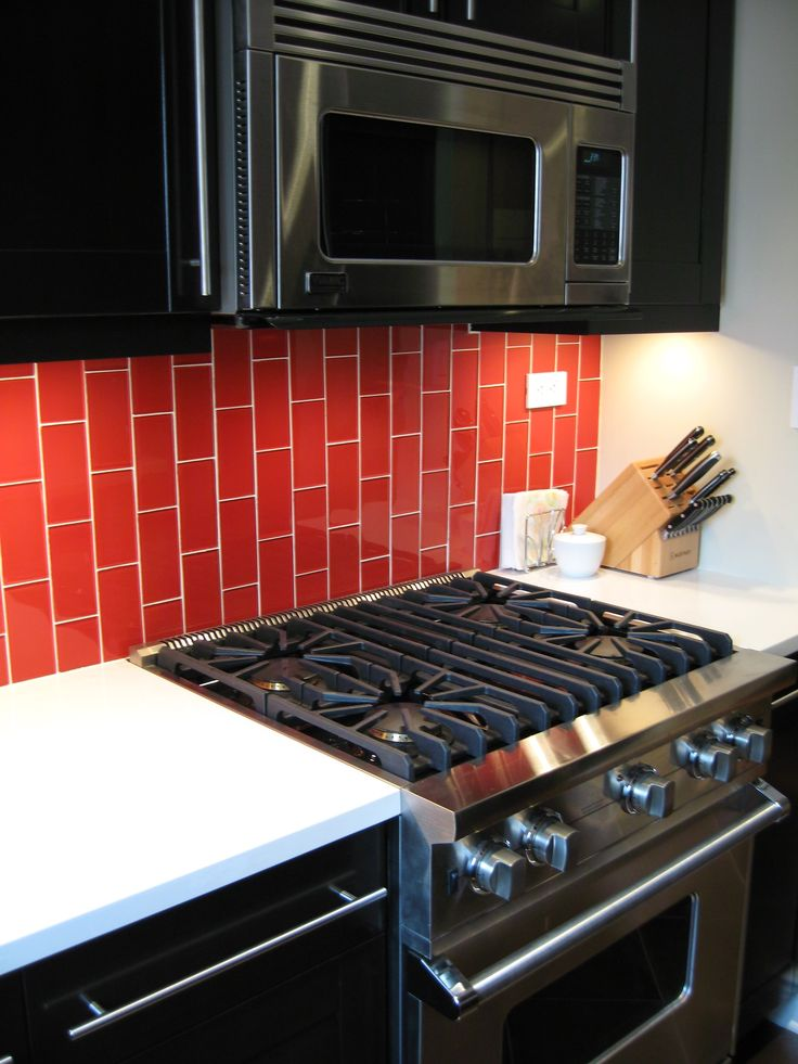 Lush 3x6 Cherry Red Glass Subway Tile