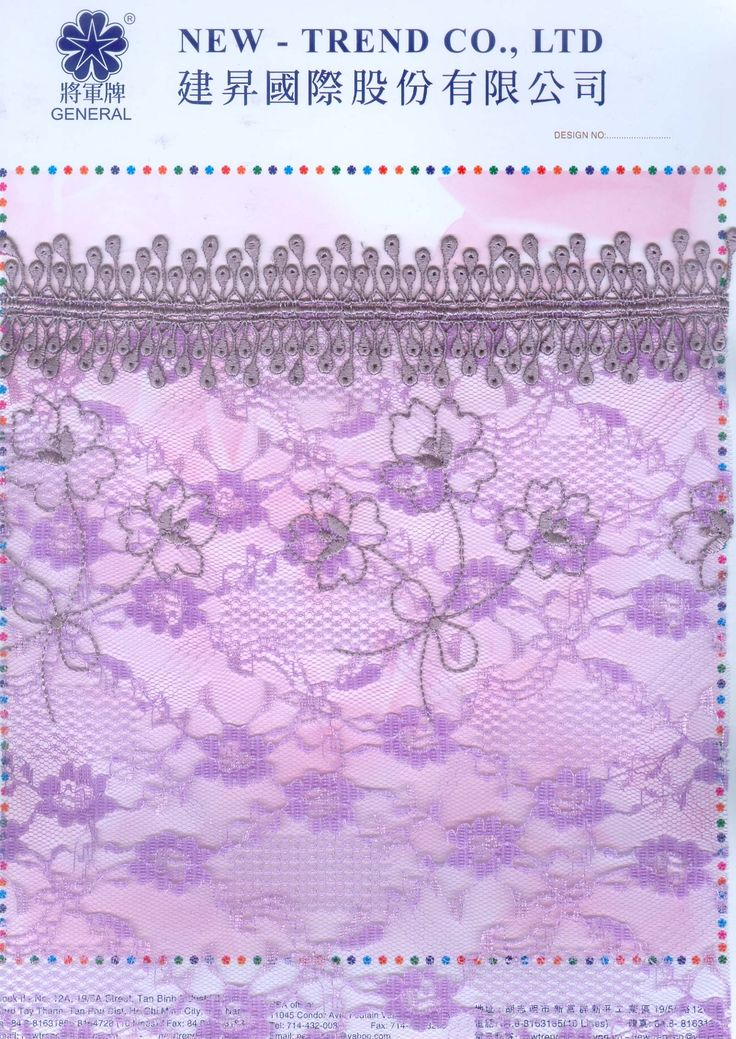 # 4405509 New-Trend Co., Ltd. Lace & Embroidery with the Vietnamese touch