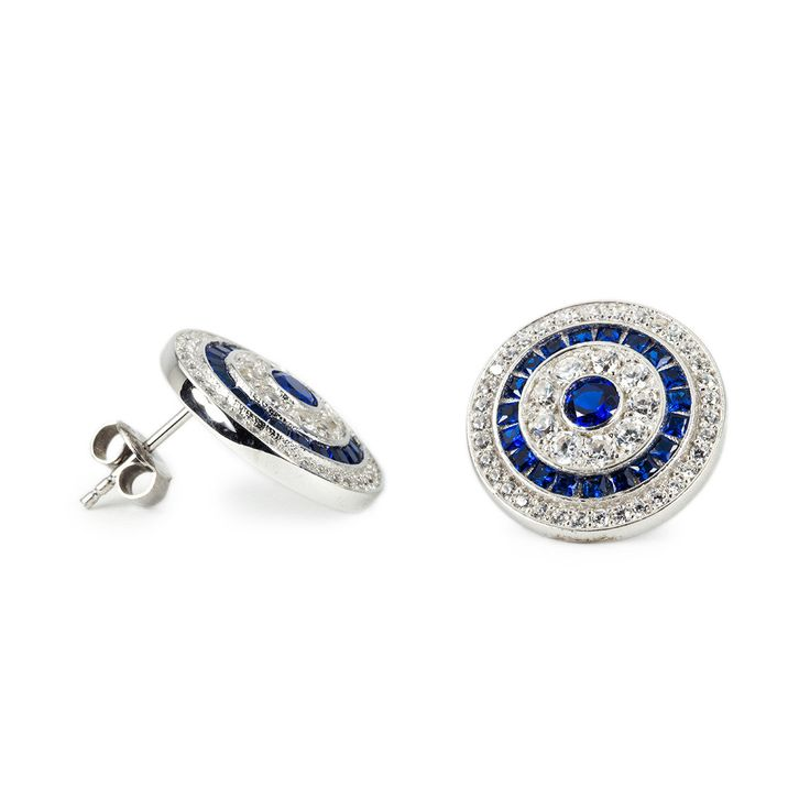Take a peek into my shop here 👀 925 Silver Handmade Square Calibre Round Shaped Earrings - Blue and White Zirconias / White Gold Plated - Free Shipping - Best gift idea https://www.etsy.com/listing/460925696/925-silver-handmade-square-calibre-round?utm_campaign=crowdfire&utm_content=crowdfire&utm_medium=social&utm_source=pinterest