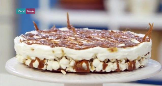 Cheesecake+di+popcorn:+una+ricetta+molto+originale+di+Benedetta+Parodi+(VIDEO)