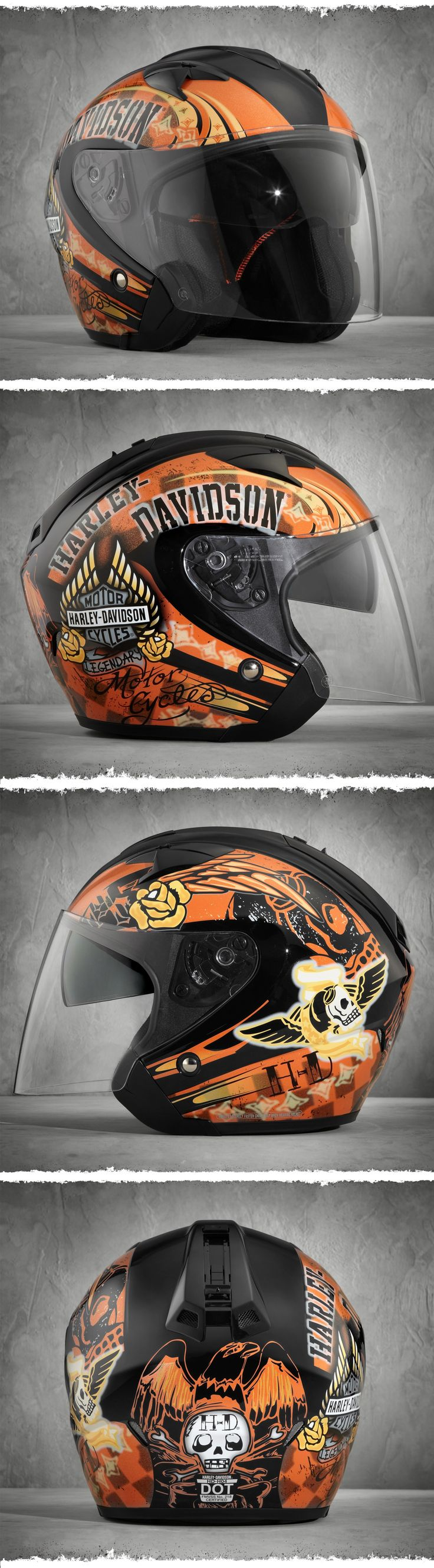 The feature you'll love the most on our women's 3/4 motorcycle helmet this summer is the Advanced Channeling Ventilation to help flush out hot, thick, humidity.   Harley-Davidson Women's Keystone 3/4 Helmet